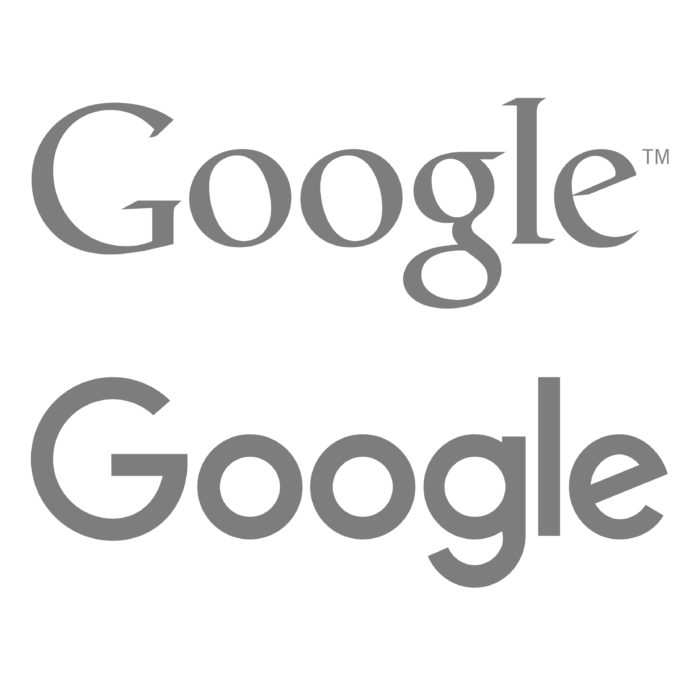 The Previous Google Logo, Compared with the Latest logo.