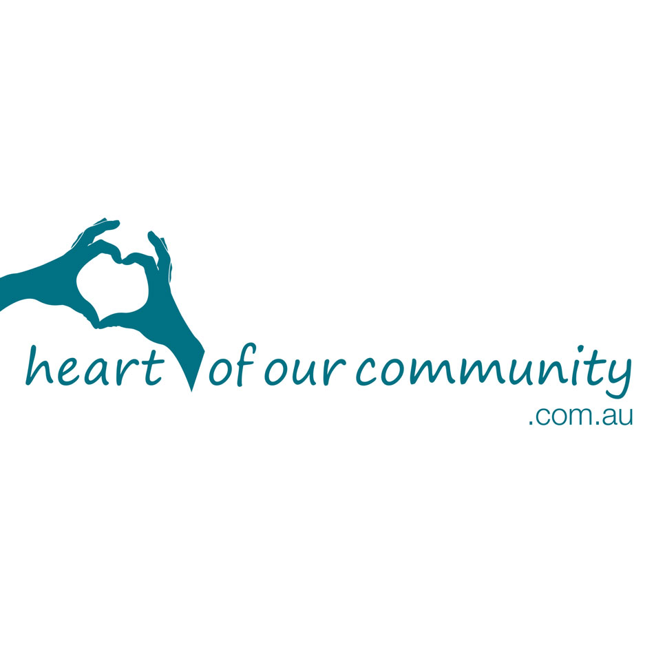 Part of the brand for Community Partnership Program embraces the slogan heart of our community
